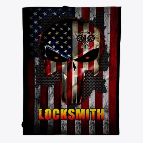 Sarcastic Locksmith Blanket Black T-Shirt Front