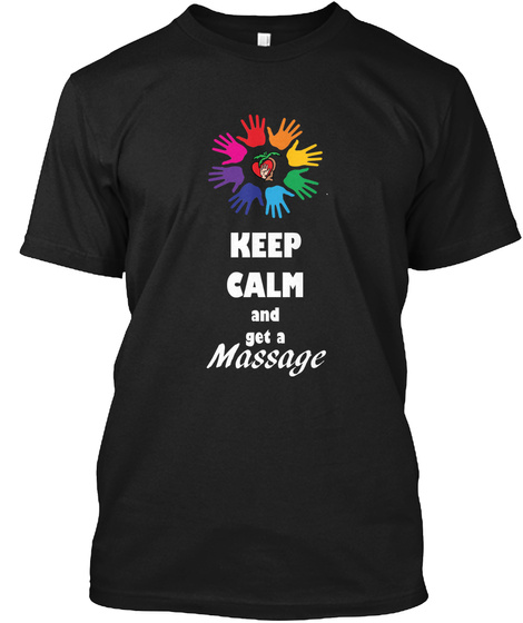 Keep Calm Cv Black T-Shirt Front