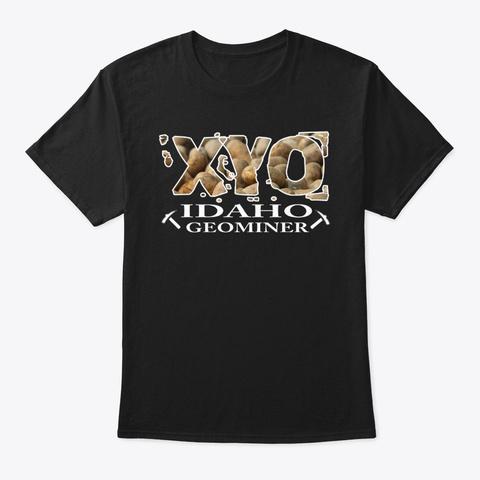 Xyo Idaho Design Black T-Shirt Front