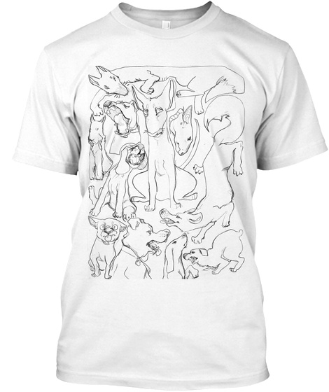 Dog Box White T-Shirt Front