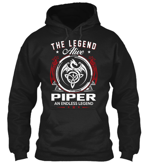 The Legend Alive Piper An Endless Legend Black T-Shirt Front