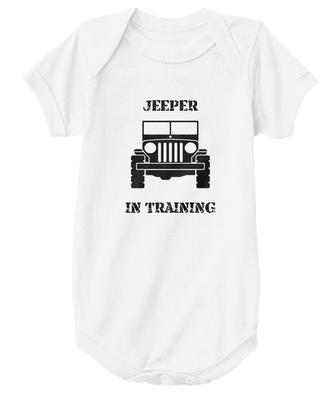 Jeeper   In Training White T-Shirt Front