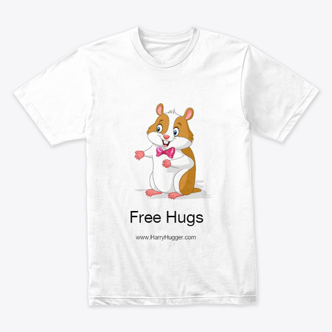 Harry Hugger   Free Hugs White T-Shirt Front