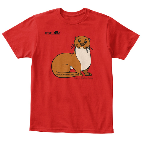 Iosf Www.Loveotters.Org Red T-Shirt Front
