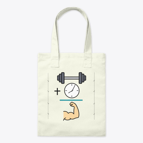 Muscle Time Equation Natural T-Shirt Front