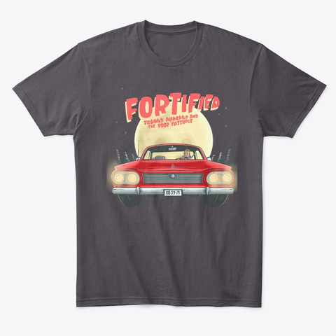 Fortified Design Heathered Charcoal  T-Shirt Front