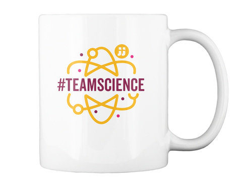#Teamscience White Mug Back