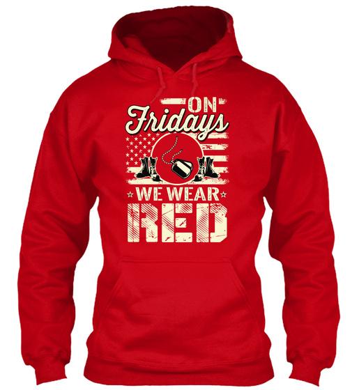 On Fridays We Wear Red  Sweatshirt Front
