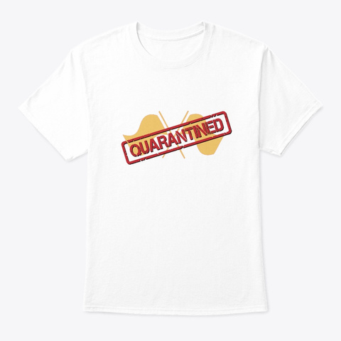 Band/Guard   Quarantined   Guard Flags White T-Shirt Front