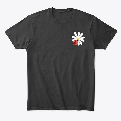 Bug Lady Graphic Unisex Tees Black T-Shirt Front