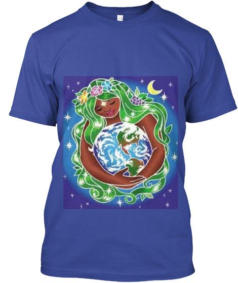 Earth Day Deep Royal T-Shirt Front