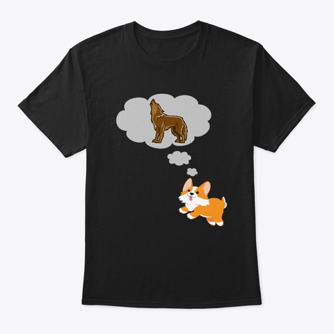 Doggy     I Am A Wolf ! Black T-Shirt Front
