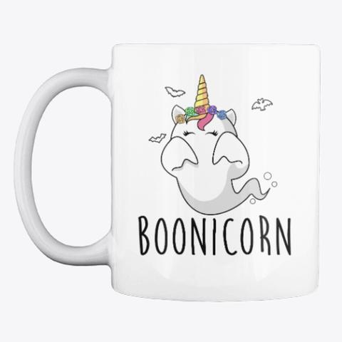 Boonicorn Cute Unicorn Halloween Mug White T-Shirt Front