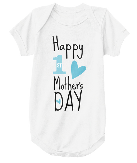 Happy First Mother's Day /Boy White Camiseta Front