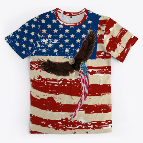 All Over Print Design American Eagle Standard T-Shirt Front