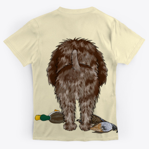 Wirehaired Pointing Griffon Light Yellow T-Shirt Back