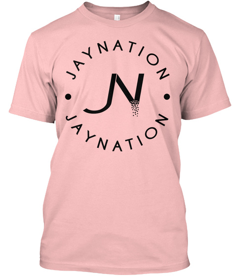 Jn Jaynation Light Pink Pale Pink T-Shirt Front