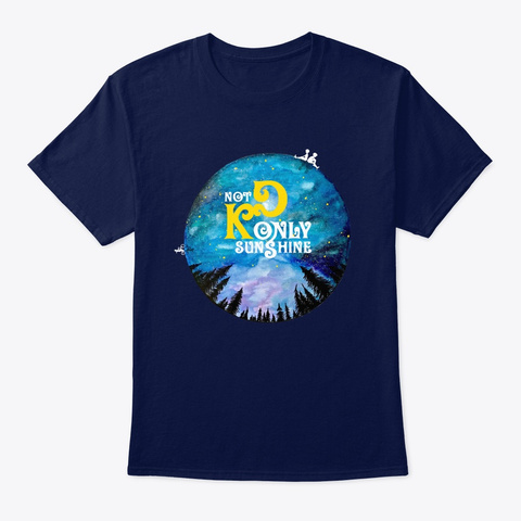 Not Only Sunshine   Standart Tee Navy T-Shirt Front