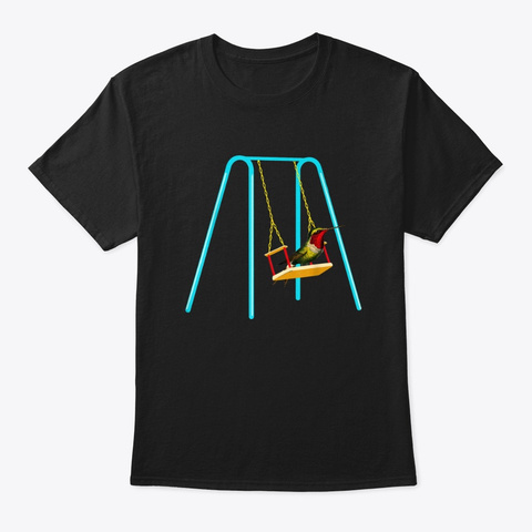 Hummingbird Swing Tshirt Hummingbird Spi Black T-Shirt Front