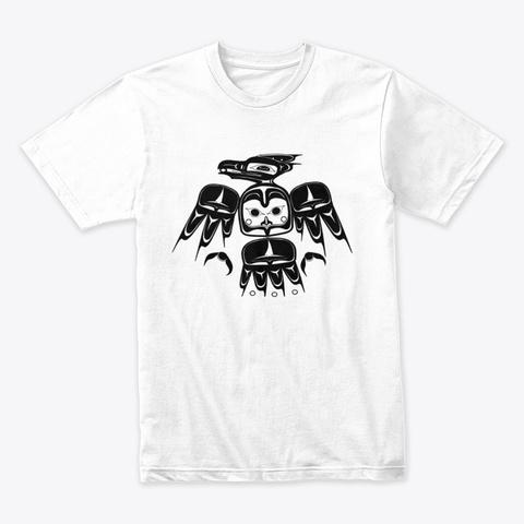 Thunder Bird Native Design White T-Shirt Front