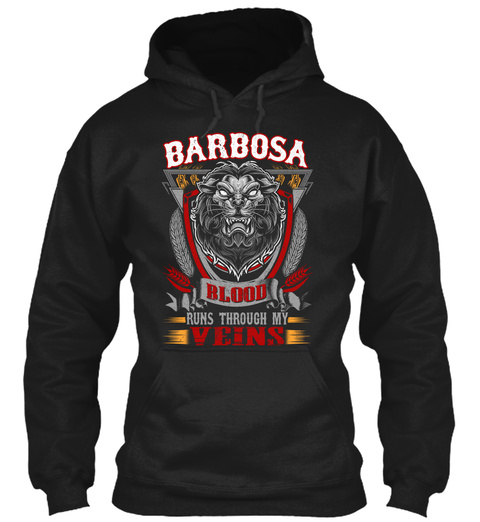 Barbosa Blood Thru My Veins Black T-Shirt Front