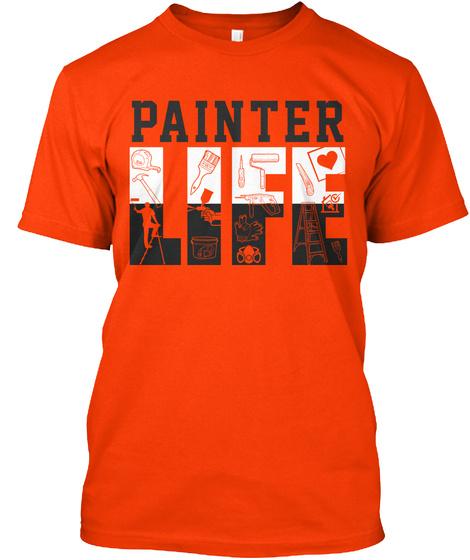 Painter Life Orange T-Shirt Front