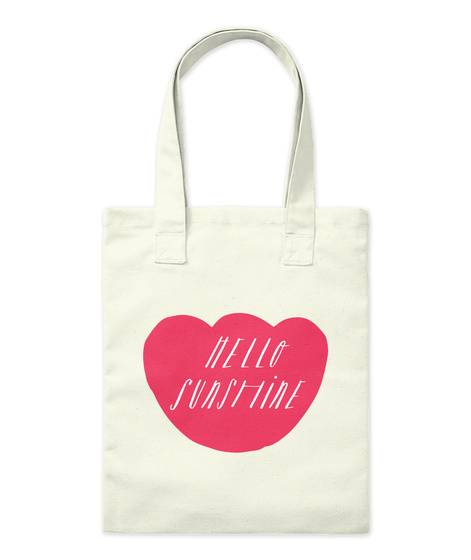 Hello Sunshine Natural Tote Bag Front