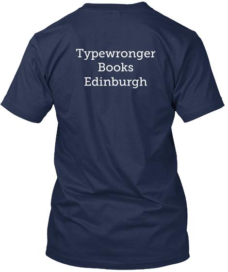 Typewronger Books Edinburgh Navy T-Shirt Back