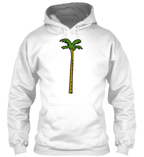 Palm Tree Coconut Beach Caribic Gift Pre White T-Shirt Front