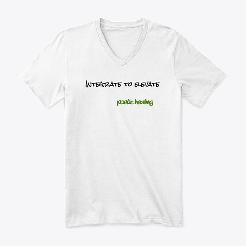 Integrate To Elevate  White T-Shirt Front