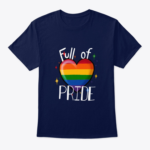 Full Of Pride Navy T-Shirt Front