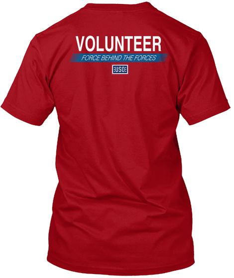Uso Volunteer Shirt   Red Shirt Friday Deep Red T-Shirt Back