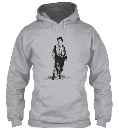 Billy The Kid Gunslinger Vintage Light Sport Grey T-Shirt Front