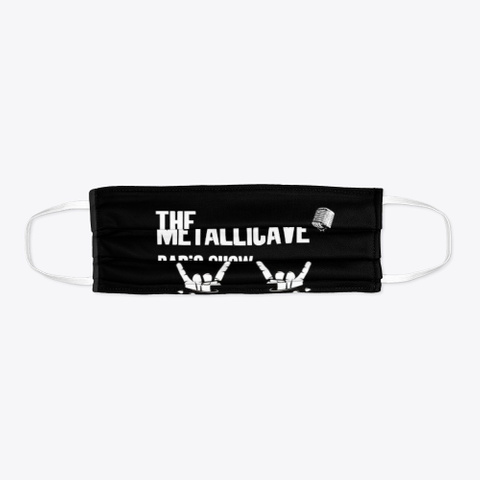 The Metallicave Radio Show Mask Black T-Shirt Flat