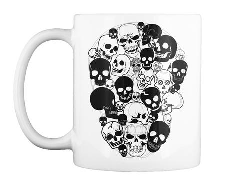 Halloween Skulls  White T-Shirt Front