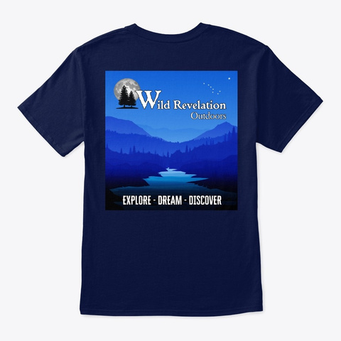 Explore Dream Discover Unisex Tee Navy T-Shirt Back