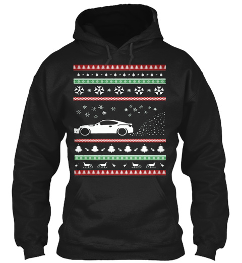 Brz Frs Ugly Christmas Sweaters Black T-Shirt Front