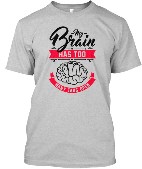 23848669 from Best Online T-shirts Store. Brain T Shirt For Men Limited Edition  Light Steel T-Shirt Front