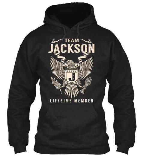 Team Jackson Lifetime Member Black T-Shirt Front