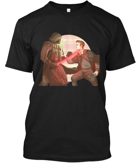 Vader Vs Potter Black T-Shirt Front