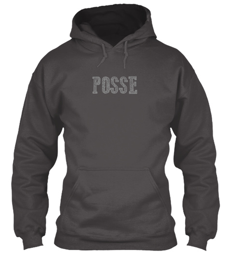 Posse Poncho Deep Charcoal T-Shirt Front