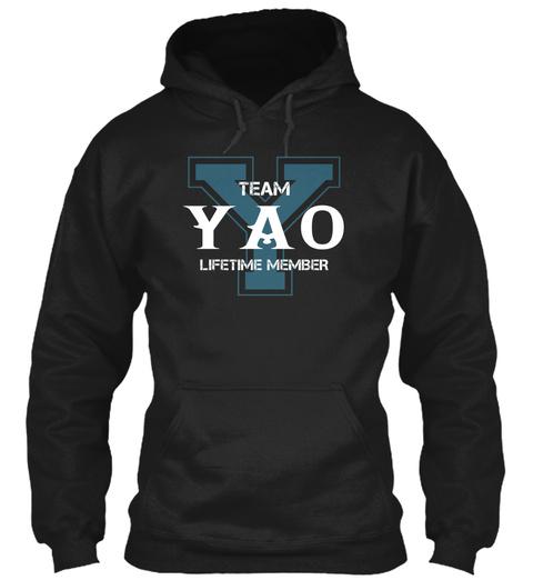 Team Yao   Name Shirts Black T-Shirt Front