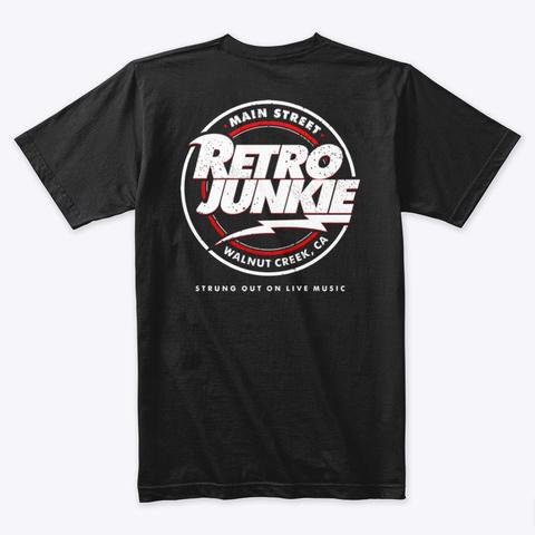 Retro Logo Black T-Shirt Back