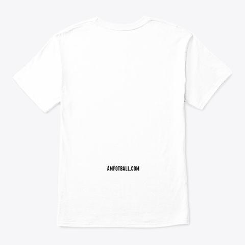 Amerikansk Fotball Logo Merch! White T-Shirt Back
