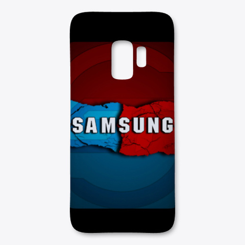 Red And Blue Samsung Case Black Camiseta Front