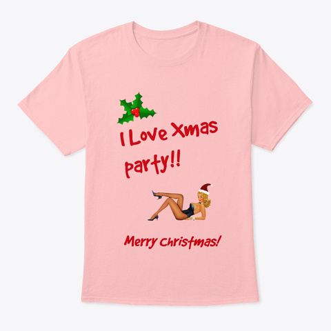 Christmas Party Pale Pink T-Shirt Front
