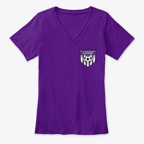 Womens Clothing Team Purple  T-Shirt Front
