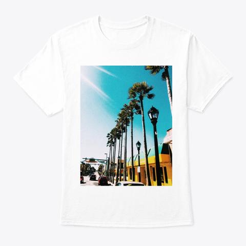 Miami  Tee White T-Shirt Front