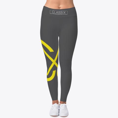 Womans Cx Gold Yoga Pants  Charcoal T-Shirt Front