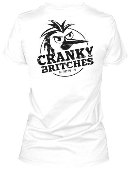 Women's V Neck White T-Shirt Back